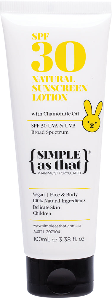 SIMPLE AS THAT Children Sunscreen 100ml - Luna and Beau