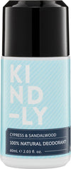 KIND-LY Deodorant Cypress & Sandalwood 60ml - Luna and Beau