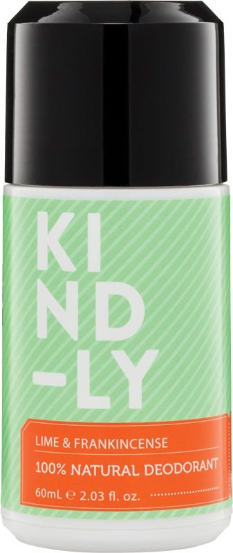 KIND-LY Deodorant Lime & Frankincense 60ml - Luna and Beau
