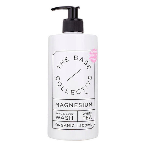 The Base Collective White Tea Magnesium Hand & Body Wash 500ml - Luna and Beau