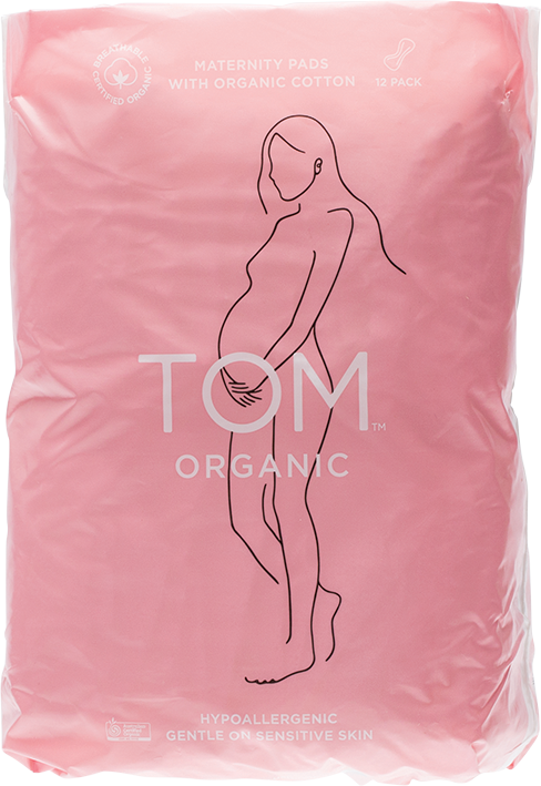 TOM ORGANIC Maternity Pads x12 - Luna and Beau