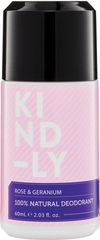 KIND-LY Deodorant Rose & Geranium 60ml - Luna and Beau