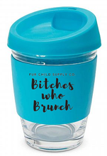 Load image into Gallery viewer, Bitches Who Brunch reusable glass coffee cup