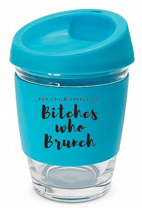 Bitches Who Brunch reusable glass coffee cup
