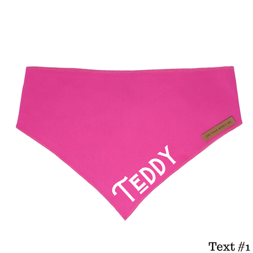 Custom Name Bandana - Hot Pink