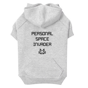 Personal Space Invader dog hoodie