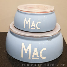 Load image into Gallery viewer, Dog bowls with lids - 3 sizes, customizable
