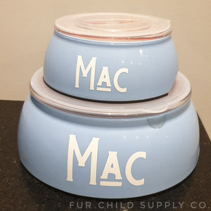 Dog bowls with lids - 3 sizes, customizable