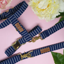 Load image into Gallery viewer, Amalfi Adjustable Strap Harness - Navy Stripe