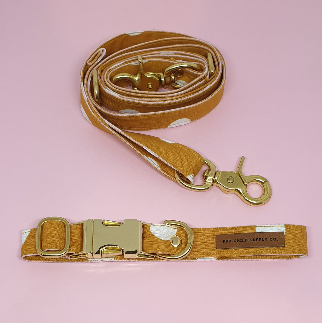 Tuscany Adjustable Collar - Mustard spot