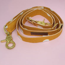 Load image into Gallery viewer, Tuscany Adjustable Dog Leash - Mustard Spot