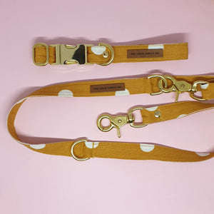 Tuscany Adjustable Dog Leash - Mustard Spot