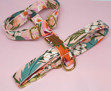 Load image into Gallery viewer, Sydney Adjustable Strap Harness - Pink Floral