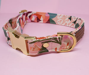 Sydney Adjustable Collar - Pink Floral