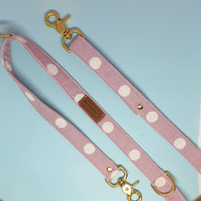 Load image into Gallery viewer, Geneva Adjustable Dog Leash - Pink Spot