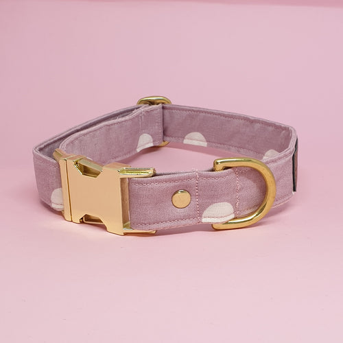 Geneva Adjustable Collar - Pink spot