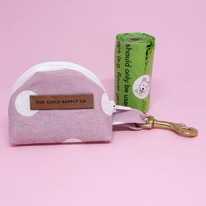 Geneva Poop Bag Holder - Pink Spot