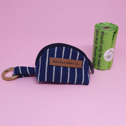 Amalfi Poop Bag Holder - Navy Stripe