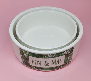 Ceramic Personalised Dog Bowl - 5 designs to choose from!