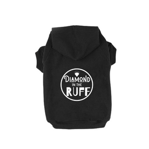 Diamond in the ruff dog hoodie