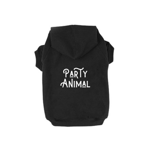 Party Animal dog hoodie