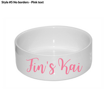 Load image into Gallery viewer, Ceramic Personalised Dog Bowl - 5 designs to choose from!
