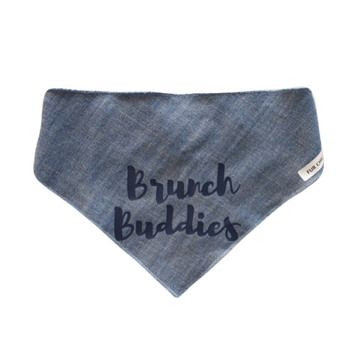 Brunch Buddies Bandanas - Denim
