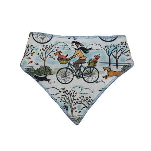 Dogs on Bikes Bandanas - Canvas