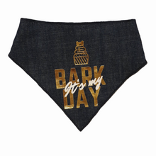 Load image into Gallery viewer, Bark Day Bandanas - Denim