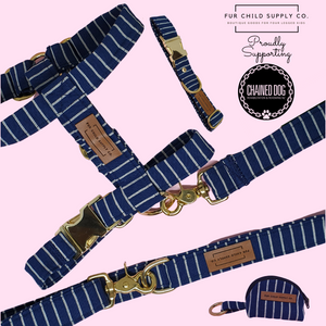 Amalfi Adjustable Strap Harness - Navy Stripe