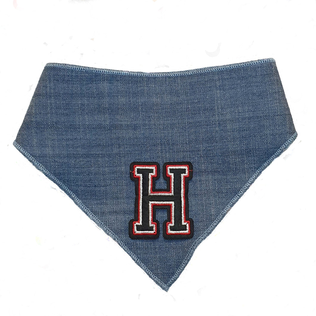Custom Letterman Bandanas - Denim