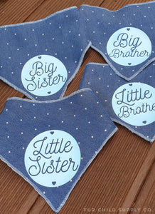 Sibling big brother little brother big sister little sister siblings bandanas