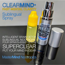 Load image into Gallery viewer, ClearMind+ - Sublingual Spray - Brain Fog Eliminator For Clear Thinking (30 day supply)