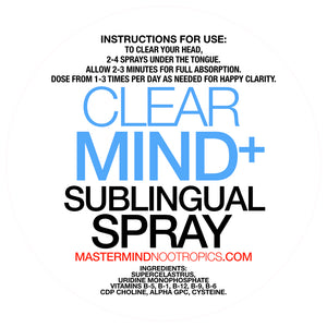 ClearMind+ - Sublingual Spray - Brain Fog Eliminator For Clear Thinking (30 day supply)