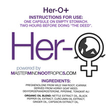 Load image into Gallery viewer, HER-O+ - Women's Pleasure Enhancement Supplement (4 doses)