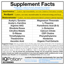 Load image into Gallery viewer, IQPotion+ w/ Restoramones - Drink Mix and Capsules  for Hormone Optimization and Brain Boosting