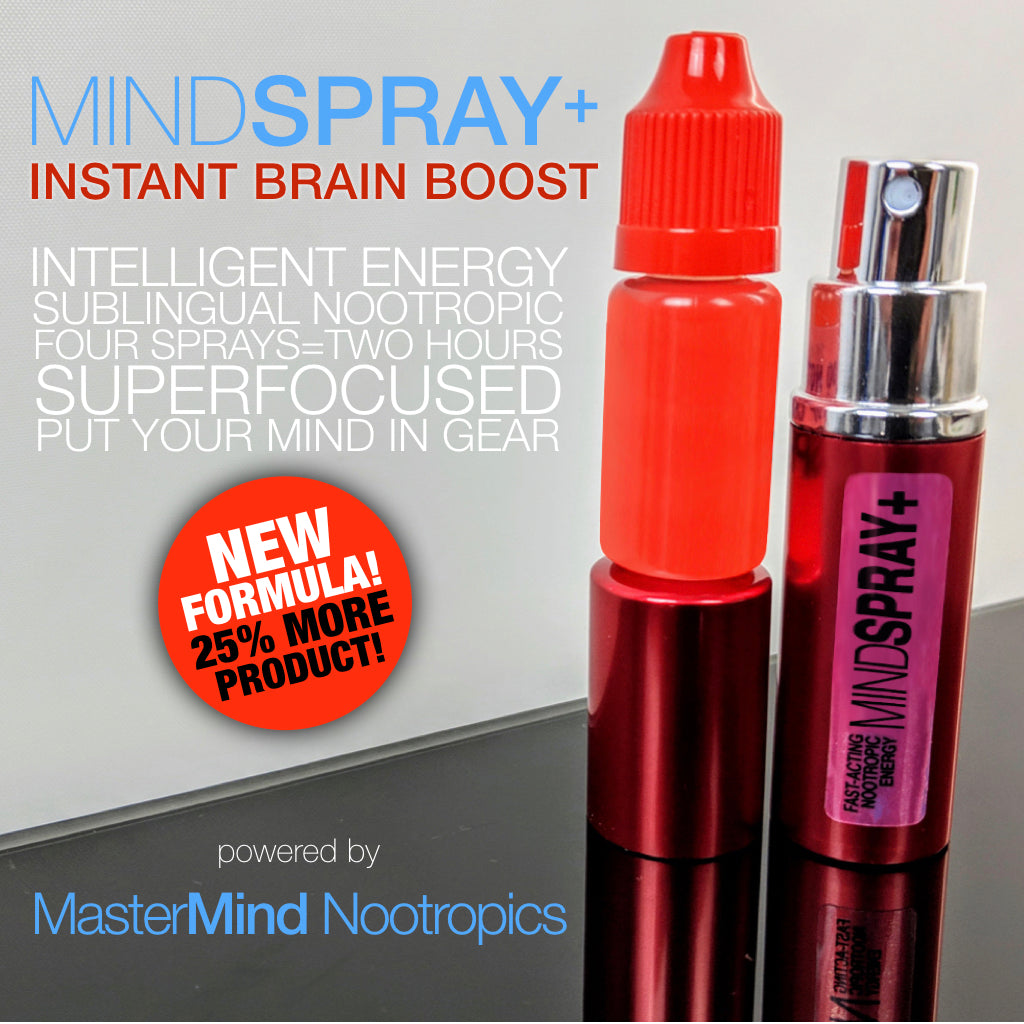 MindSpray+  - Fast-Acting Sublingual Spray For Mood, Energy and Focus (30 day supply)