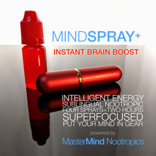Load image into Gallery viewer, MindSpray+  - Fast-Acting Sublingual Spray For Mood, Energy and Focus (30 day supply)