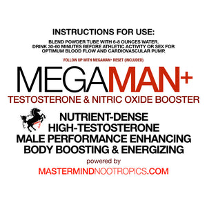 MegaMan+ Combo- Enhanced Testosterone, Endurance and Sexual Performance and Increased Strength for Men.