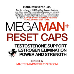 MegaMan+ Combo- Enhanced Testosterone, Endurance, Performance and Increased Strength for Men.