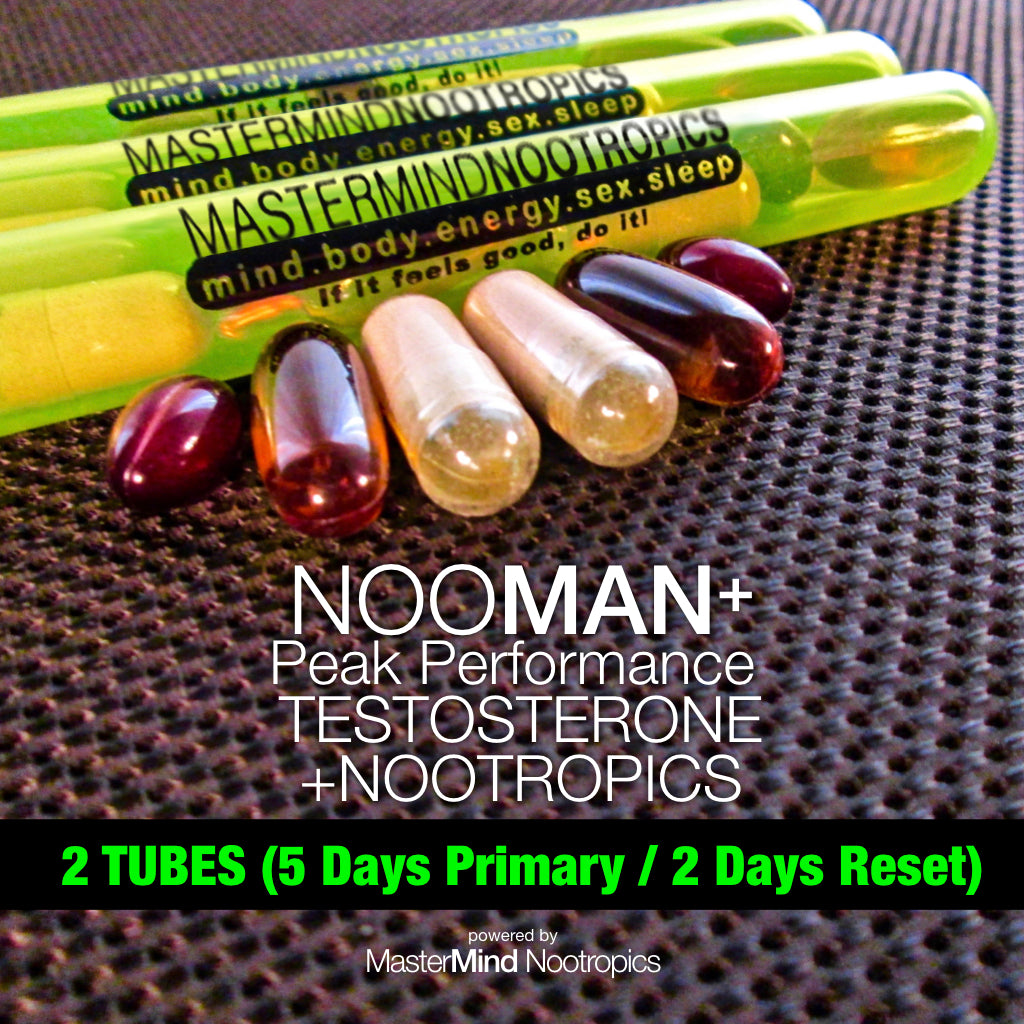NooMan+ - Testosterone Booster, Performance Enhancer For Extended Mood and Energy Optimization.