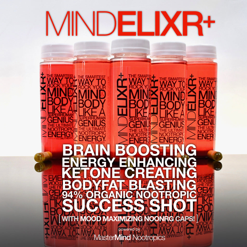 MindElixr+ - Nootropic Energy Drink + BrainBoost Capsules for Focus, Energy and Mood.