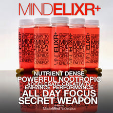 Load image into Gallery viewer, MindElixr+ - Nootropic Energy Drink + BrainBoost Capsules for Focus, Energy and Mood.