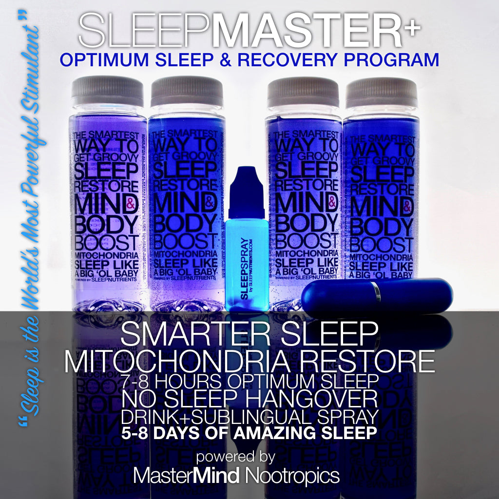 SleepMaster+ Combo Pack - Deep, Restorative Sleep and Detox (4 Drinks - 8 Doses + 20-Sublingual Spray Doses)