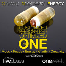 Load image into Gallery viewer, THE ONE capsule - Organic Nootropic Energy for Mood, Focus, Motivation and Creativity
