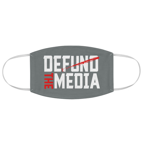 Defund the Media Fabric Face Mask