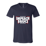 Impeach Fauci Unisex V-Neck Jersey Tee