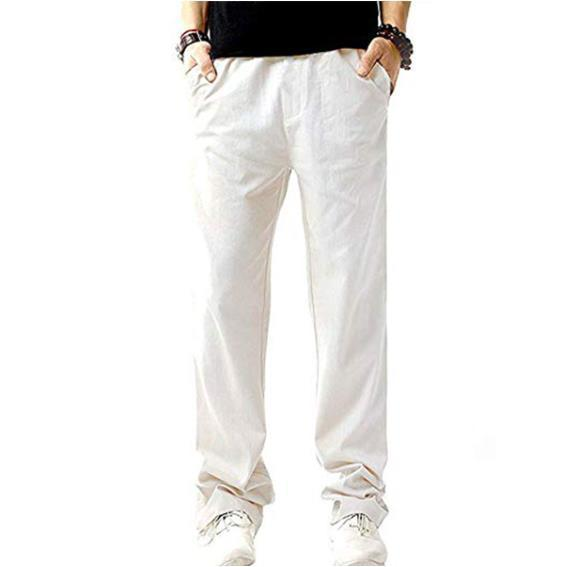 50% OFF -Men's Relaxed-Fit Linen Pant with Drawstring