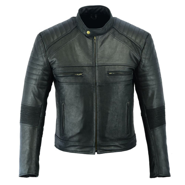 House of Motorcycles Tasmania | Johnny Reb Mens Botany Vintage Leather Jacket - Front