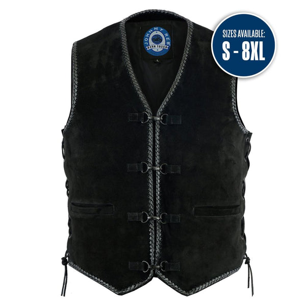 JOHNNY REB MEN'S LIGHTNING RIDGE SUEDE VEST